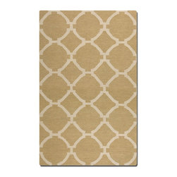 Uttermost - Uttermost Bermuda 8 x 10 Rug - Wheat 71019-8 - Woven Wool In Wheat With Natural Striations.