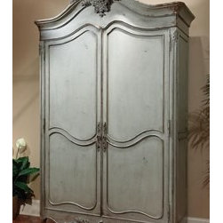 """Habersham - Habersham Lille Armoire - It all started in the small North Georgia town of Clarkesville. It was 1969 and Habersham founder Joyce Eddy had just been given the chance to operate a small antique shop located above an old laundromat. This was just the opportunity a woman of Joyce's vision and energy would turn into the perfect blend of utility artistry and soul. Looking for ways to make her antique business more profitable she began crafting small decorative purses from vintage wooden cigar boxes. They were totally unique and they were an instant hit. Joyce named her new venture Habersham Plantation after Georgia's Habersham County and the plantations for which the area was known. The ideas just kept coming. One day Joyce was driving by a local textile company and spotted a large pile of old discarded wooden spools. Those spools were soon crafted into candleholders towel racks and folk art items. With the help of her sons and other family members Joyce expanded Habersham's offerings to include handcrafted furniture reflecting the American Country designs of the early 17th and 18th centuries. As word spread and production demands grew Joyce enlisted the help of woodworkers from her North Georgia region. This area had been a center for cabinetmaking since the early 1800s and the master craftsmen were well-schooled in the time-tested woodworking and joinery techniques that matched Joyce's sense of style and function. She even designed her factory to work just as the 18th century cabinetmakers did with individual artisans hand-finishing signing and dating each piece of furniture they crafted. Today Habersham still leads the way in the fine art of furniture design. So much so that in addition to their product line a new """"whole home"""" concept is finding its way into some of the finest dwellings in the country. Custom kitchen bath and other cabinetry designs offer rich opulent finishes and blend seamlessly with rooms of casual elegance all enhancing today's graciou"""