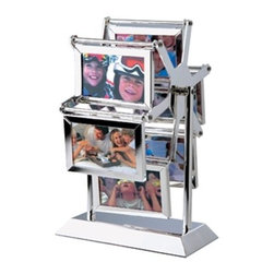 "Kito - 8.25"" Double Sided Ferris Wheel Picture Frame Display (Holds 6) - This gorgeous 8.25"" Double Sided Ferris Wheel Picture Frame Display (Holds 6) has the finest details and highest quality you will find anywhere! 8.25"" Double Sided Ferris Wheel Picture Frame Display (Holds 6) is truly remarkable."