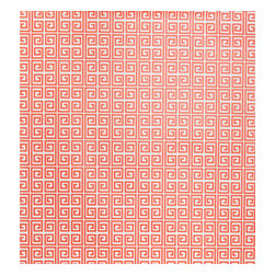 Kimberly Lewis Home - Ikat Wallpaper, Sample, Poppy - Unlock your room's hidden potential. The subtle color and classic repeating Greek key motif is open to endless design possibilities. It's screen-printed by hand using environmentally friendly inks and paper.