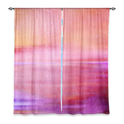 """DiaNoche Designs - Window Curtains Unlined - Iris Lehnhardt Infusion of Colour II - DiaNoche Designs works with artists from around the world to print their stunning works to many unique home decor items.  Purchasing window curtains just got easier and better! Create a designer look to any of your living spaces with our decorative and unique """"Unlined Window Curtains."""" Perfect for the living room, dining room or bedroom, these artistic curtains are an easy and inexpensive way to add color and style when decorating your home.  The art is printed to a polyester fabric that softly filters outside light and creates a privacy barrier.  Watch the art brighten in the sunlight!  Each package includes two easy-to-hang, 3 inch diameter pole-pocket curtain panels.  The width listed is the total measurement of the two panels.  Curtain rod sold separately. Easy care, machine wash cold, tumble dry low, iron low if needed.  Printed in the USA."""