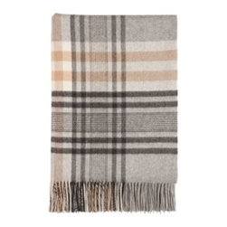 Johnstons| Kellas Check Throw| Cashmere - Gulfstream Throw by Johnston's for Muse