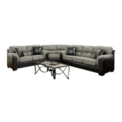 Chelsea Home Furniture - Chelsea Home Lancaster 3-Piece Sectional in Laredo Graphite - Lancaster 3-Piece Sectional in Laredo Graphite belongs to the Chelsea Home Furniture collection