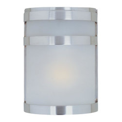 Joshua Marshal - One Light Frosted Glass Stainless Steel Outdoor Wall Light - One Light Frosted Glass Stainless Steel Outdoor Wall Light