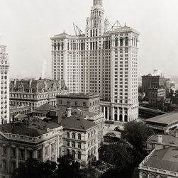 New Municipal Building, New York City, 1912 Print - Photographed in 1912 just before completion the New York Municipal Building. Photographer Unknown.