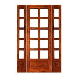 "Prehung Rustic-10-lite-P/B French Solid Wood IG Glass Sidelites Door - SKU#Rustic-10-lite-P/B-Ext-1-2BrandAAWDoor TypeFrenchManufacturer CollectionRustic French DoorsDoor ModelDoor MaterialWoodWoodgrainTropical HardwoodVeneerPrice2004Door Size Options[24""+2(14"") x 96""] (4'-4"" x 8'-0"")  $0[24""+2(18"") x 96""] (5'-0"" x 8'-0"")  $0[30""+2(14"") x 96""] (4'-10"" x 8'-0"")  +$10[30""+2(18"") x 96""] (5'-6"" x 8'-0"")  +$10[32""+2(14"") x 96""] (5'-0"" x 8'-0"")  +$10[32""+2(18"") x 96""] (5'-8"" x 8'-0"")  +$10[36""+2(14"") x 96""] (5'-4"" x 8'-0"")  +$10[36""+2(18"") x 96""] (6'-0"" x 8'-0"")  +$10Core TypeSolidDoor StyleDoor Lite Style3/4 Lite , 10 LiteDoor Panel Style1 PanelHome Style MatchingMediterranean , LogDoor ConstructionEngineered Stiles and RailsPrehanging OptionsPrehungPrehung ConfigurationDoor with Two SidelitesDoor Thickness (Inches)1.75Glass Thickness (Inches)1/2Glass TypeDouble GlazedGlass CamingGlass FeaturesInsulated , Tempered , low-E , Beveled , DualGlass StyleClear , White LaminatedGlass TextureClear , White LaminatedGlass ObscurityNo Obscurity , High ObscurityDoor FeaturesDoor ApprovalsFSCDoor FinishesDoor AccessoriesWeight (lbs)850Crating Size25"" (w)x 108"" (l)x 52"" (h)Lead TimeSlab Doors: 7 daysPrehung:14 daysPrefinished, PreHung:21 daysWarranty1 Year Limited Manufacturer WarrantyHere you can download warranty PDF document."