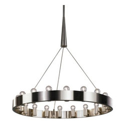 Robert Abbey - Candelaria Chandelier by Robert Abbey - How fabulous is this chandelier? It's a modern centerpiece finished in polished nickel with exposed, vintage-style bulbs.