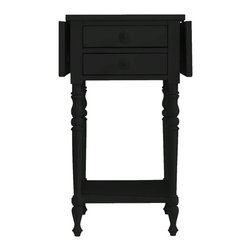 Stanley Furniture - Coastal Living Cottage-Chesapeake Table - Like an old-time drawbridge over the Chesapeake Bay, this charming side table features a convertible top that fits about anywhere. Double drawers are perfect stowaways for remotes, keys, and guide maps.