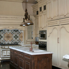 Mediterranean Kitchen by Oak View Designs LLC