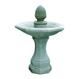 Campania - San Remo Pigna Garden Water Fountain, Copper Bronze - The San Remo Pigna Garden Fountain offers a contemporary style and elegance. The water creates a tranquil flowing water sound. The finishing techniques make every piece a uniquely beautiful and original work of art.