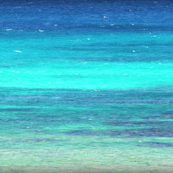 Beach Photography - Beach Photography - Beach Art Print of Turquoise Blue Sea and Deep Teal Ocean Waves. 8 x 10 Photo Wall Art Print of Blue Caribbean Ocean Waves. Beach Home Decor Photography by Beach Bum Chix.