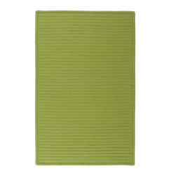 Colonial Mills - Colonial Mills Simply Home Solid H271 Bright Green Rug H271R024X036S 2x3 - Practical. Colorful. Versatile. Maintenance-free. Simply pick from 37 colors to find the perfect solid-color indoor/outdoor rug for your space.