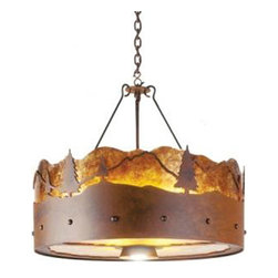 Steel Partners Inc - Chandelier - TIMBER RIDGE - Every piece we create is unique handcrafted at our factory in Chehalis, Washington, USA. Due to this, lead times are 2 to 4 weeks.