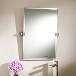 """24"""" Helsinki Rectangular Tilting Mirror - Joining the Helsinki collection of bath accessories, the 24"""" Rectangular Tilting Mirror allows you to angle the glass for nearly any height of user."""