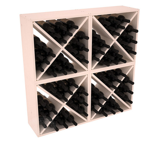 "Wine Racks America - 96 Bottle Wine Cube Collection in Ponderosa Pine - Perfect for moderate storage requirements and converting that ""underneath"" space into wine storage. Mix and match finishes to show your true wine-lover's spirit or experiment for a modern wine rack twist."