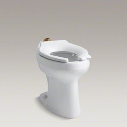 KOHLER - KOHLER Highline(R) 1.6 or 1.28 gpf ADA elongated toilet bowl with bedpan lugs, r - The Highline flushometer bowl features a new Touchless(TM) 1.6 or 1.28 gpf flushometer with Tripoint(TM) technology that delivers accurate, reliable flushing performance across a multitude of water pressures. The combination of this flushometer and a specifically engineered toilet bowl results in an eco-friendly KOHLER toilet that meets the criteria for LEED initiatives by saving thousands of gallons of water per fixture per year in commercial and residential settings.