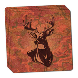 "Made on Terra - Deer Hunting Pink Camouflage Thin Cork Coaster Set of 4 - You're just cleaning up after your epic party when you realize it... something's different. Unlike all those other times, you're not mopping up cup condensation from your counters and tables. This time, everyone used a coaster. Everyone. Maybe it's because you handed out a coaster with every glass. No. You've tried that before. No, this time it's because of the actual coasters. You found the cutest Made On Terra printed cork coasters. You love that everyone commented on how unique they were,  from the light-weight, thin cork material to the printing that creates a cool and subtle effect. Plus, they're really absorbent, but dry quickly. And they're made from an eco-friendly, sustainable resource, so that makes you feel pretty great, too. Choose from Made on Terra's many fabulous cork coasters. Measures 4"" x 4"" x 1/8"". Made of thin cork. Super cute and nicely absorbent. Sold in sets of four."