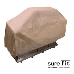 Sure Fit - Sure Fit Taupe Large Grill Cover - Protect your favorite cooking appliance with this Sure Fit, large grill cover. Made of durable 380-gram polyester and coated with PVC, the rain will just roll off, keeping your grill dry. This machine washable cover fits up to 35 x 21 x 68 grills.