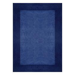 Rug - ~5 ft. x 7 ft. Solid Blue Formal Living Room Area Rug, Hand-Tufted - Living Room Hand-tufted Shaggy Area Rug