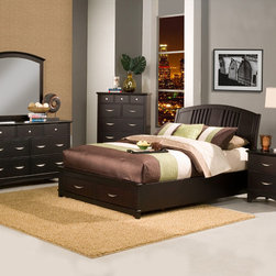 Alpine Furniture - Del Mar 5 PC East King Storage Platform Bedroom Set - Del Mar 5 PC Eastern King Storage Platform Bedroom Set