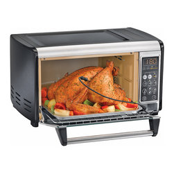 Hamilton Beach - Hamilton Beach 31230 Programmable Oven - From Hamilton Beach,. this Set and Forget Toaster Oven with fast and even convection cooking, lets you serve perfectly cooked meat every time. This has a built-in temperature probe for safe cooking without overcooking.