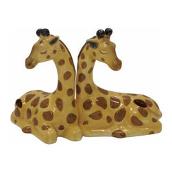 WL - 3.5 Inch Kitchenware Utensil Giraffe Figurines Salt and Pepper Shakers - This gorgeous 3.5 Inch Kitchenware Utensil Giraffe Figurines Salt and Pepper Shakers has the finest details and highest quality you will find anywhere! 3.5 Inch Kitchenware Utensil Giraffe Figurines Salt and Pepper Shakers is truly remarkable.