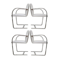 Set of 4 Vintage Ludwig Mies van der Rohe Brno Chairs