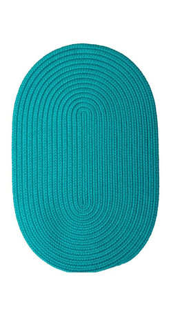 Colonial Mills - Colonial Mills Boca Raton BR56 Turquoise Rug BR56R144X180 12x15 - Just pick a coloreany colorethey are all here! This colorful outdoor rug utilizes a simple flat braid construction in an array of colors to put a fashionable stamp on your decor.