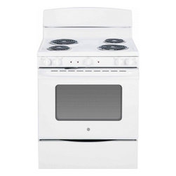 "GE - JB450DFWW 30"" 5.0 cu. ft. Oven Capacity Free-Standing Electric Range  Upfront Co - A GE electric range will meet all your cooking needs for years to come from warming a simple pan of soup for one person to handling a large dinner party or holiday meal for the whole family Plus your stove will look great in your kitchen and clean up..."