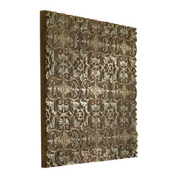 Uttermost - Uttermost Barile Wooden Wall Art - Barile Wooden Wall Art by Uttermost This Wall Decor Features A Heavy Gray Wash With Aged Red Details, Subtle Green Undertones And Gold Highlights.