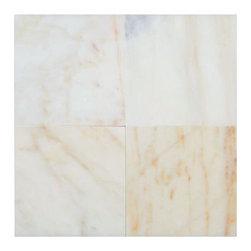 All Marble Tiles - Afyon Sugar Premium Polished Marble 6x6 Wall and Floor Tile - Afyon Sugar Premium Polished Marble 6x6 Wall and Floor Tile