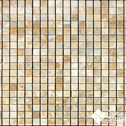 Sahara Gold Marble Stone Mosaic | 5/8x5/8 | Polished - Call to order: 1-877-558-8484