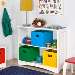 RiverRidge Kids - RiverRidge Kids Horizontal Bookcase - 02-028 - Shop for Childrens Bookcases from Hayneedle.com! Keep books and toys off the floor but still within your child's reach with the RiverRidge Kids Horizontal Bookcase. This bookcase features classic beadboard panels on the sides and can accommodate up to three bins on each shelf (sold separately).