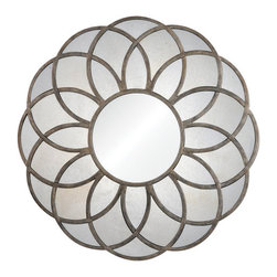 "Ren Wil - Ren Wil MT1392 Flora 40"" Circle Wall Mounted Mirror - Features:"