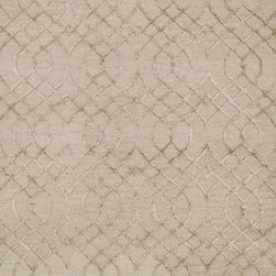 "Loloi Rugs - Loloi Rugs Panache Collection - Taupe, 2'-3"" x 7'-6"" - Distinguished by its textural effects and mix of fibers, the Panache Collection looks and feels like no other geometric patterned rug. The base of each Panache is hooked with wool for natural comfort, while the design is a raised pile of viscose that shines beautifully. Available in tonal, easy-to-match-anywhere colors and a variety of sizes."