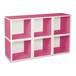 Way Basics Modular 6 Cube Bookcase - Pink - Go modular with the functional style of the Way Basics Modular 6 Cube Bookcase - Pink. These charming little storage cubes can be stacked any way you like and provide the perfect spot for books magazines toys or games. Assembly of each cube is easy just peel and stick the 3M Brand adhesive strips and assemble. No tools required and no random bags of hardware to keep track of. This set is also easy on the planet as they're made from zBoard recycled paperboard material making them lightweight strong water resistant and best of all completely recyclable. About Way BasicsWay Basics is an innovator of eco-friendly furniture and has been creating a wide variety of products using recycled materials for their customers to enjoy in the home and office. Their products require no tools to assemble and are designed to add style and function to any space without leaving a heavy footprint on the environment. Way Basics also works with furniture banks and charities around the globe to help those families in need and is a founding member of the Sustainable Furnishings Council a coalition united to promote environmentally healthy practices in the industry.