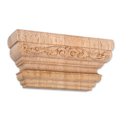 Hardware Resources - Rubberwood Carved Pilaster Capitals - 6In. x 2In. x 3In. Carved Pilaster Capital Species: Rubberwood . Made in the USA.