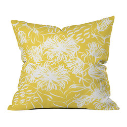 Vy La Bright Breezy Yellow Outdoor Throw Pillow - Do you hear that noise? it's your outdoor area begging for a facelift and what better way to turn up the chic than with our outdoor throw pillow collection? Made from water and mildew proof woven polyester, our indoor/outdoor throw pillow is the perfect way to add some vibrance and character to your boring outdoor furniture while giving the rain a run for its money.