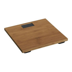 Bamboo Digital Bath Scale - The natural wood makes this bamboo scale so good looking, you won't mind leaving it out.
