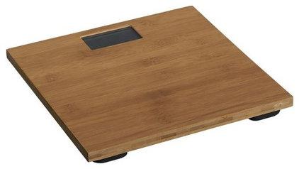 Asian Bath And Spa Accessories Bamboo Digital Bath Scale