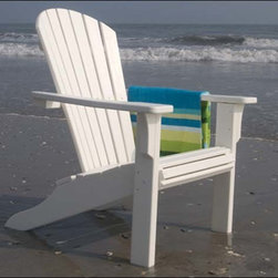 Fifthroom - POLYWOOD Seashell Adirondack Chair - Whether you want to sell seashells by the seashore, or simply sit and sun yourself sedately in a sweet seaside seat, our Seashell Adirondack Chair is a sensational selection.  With its deep, slanted seat, inclined back, and wide, accommodating armrests, it offers the ultimate in comfort.  So, sit back, sip a soda, surrender to sheer serenity, and enjoy the splendid scenery.  You see, selling seashells by the seashore sure doesn't seem to make sense.
