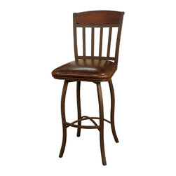 Lancaster Ginger Spice Stool - Why not use your counter space for a more casual breakfast or lunch? Pull up this chair and you won't sacrifice style or comfort. Perfect for additional seating for large parties too.