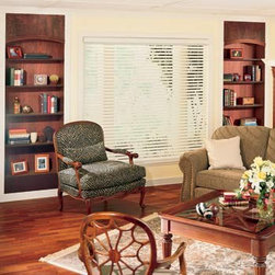 Graber - Graber Lake Forest 2-inch Faux Wood Blinds - Functional and budget-friendly, Graber Lake Forest Faux wood blinds feature moisture resistant slats for use in bathrooms, kitchens, laundry rooms, and mud rooms.