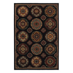 Mohawk Home - Mohawk Cachet Byzantine Tiles Brown Transitional Circles 8' x 10' Rug (9169) - The rich jewel tone pallete harmonizes splendidly with the Moroccan-inspired medallion design. Unsurpassed in quality and style without sacrificing affordability, Mohawk Home