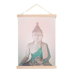 Rebecca Peragine Inc / Children Inspire Design - Pink Buddha 18x24 Wall Art Print + DIY Wood Frame Kit - Every parent dreams of raising a zenned out kid, right? Start them off early with this beautiful, peaceful, gender neutral Buddha print.