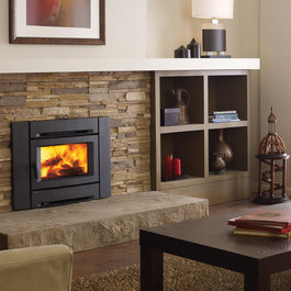 Online shopping for furniture decor and home for Contemporary wood fireplace insert