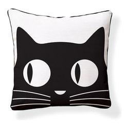 "Naked Decor - Big Eyes Cat Pillow - Size: 18""x18"""