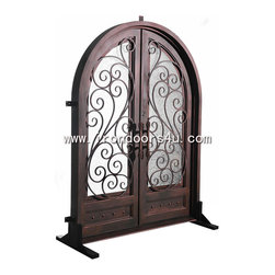 Wrought iron doors----DAD-009 - [Main Material]Wrought iron and glass