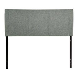 Isabella Queen Headboard - Reach back to the height of fashion with the Isabella padded faux leather headboard. Finely upholstered stitching develop an array of three columns supported by a generous border all around. Instead of fading away behind the other elements of your rooms decor, Isabella holds tight to its prominence. It is a piece that is pleasing to the eye, while presenting a design that is at once clean and complex.