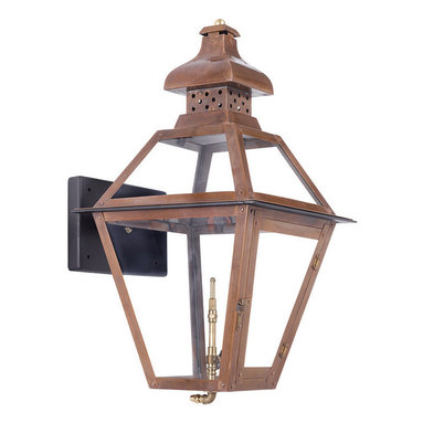 ARTISTIC - Elk Lighting Artistic 7917-WP Outdoor Gas Wall Lantern Bayou - Outdoor Gas Wall Lantern Bayou Collection In Solid Brass With A Washed Pewter Finish